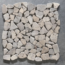Mini Flagstones Silver Travertin